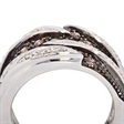 Picture of 07719: Stunning Sterling Silver Dress Ring with Rich Mahogany and Sparkling White Cubic Zirconias