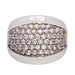 Picture of 08133: Magnificent Dress Ring in Polished Sterling Silver with Twinkling White Micro Set Cubic Zirconias