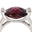 Picture of 08161: Beautiful Multi-Faceted Maroon Square Shaped Dress Ring with White Cubic Zirconias in Sterling Silver