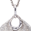 Picture of 08419: Stunning Linear Textured Necklace with Sparkling Cubic Zirconia Detail Finished in Sterling Silver