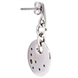 Picture of 08457: Stunning Disc Sterling Silver Hook Earrings with Rub Over Set Sparkling White Cubic Zirconias