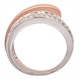 Picture of 09305: Elegant Sterling Amore Wrap Dress Ring with White Cubic Zirconia and Matte Rose Gold Plating