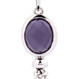 Picture of 09792: Sterling Silver Oval Shaped Purple Crystal Hook Earrings with Playful Chain Fringe Detail