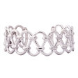 Picture of 08525: Gorgeous Polished Silver Bangle with Open Links and Intricate Cut Out Pattern