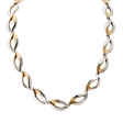 Picture of 09952: Sterling Silver Two Tone Necklace with Elegant Leaf Style Pattern