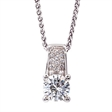 Picture of 08132: Beautiful Multi-Faceted White Stone Sterling Silver Necklace with Miniature Cubic Zirconia Detail