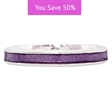 Picture of 08854: Beautiful Simple Style Sterling Silver Stacking Ring Finished in Snake Skin Textured Purple Enamel