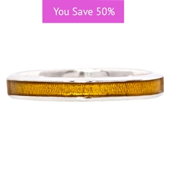 Picture of 08853: Gorgeous Simple Style Stacking Ring in Sterling Silver Finished in Stunning Textured Yellow Enamel