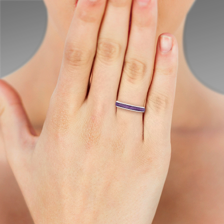 1382990ea ... Picture of 08854: Beautiful Simple Style Sterling Silver Stacking Ring  Finished in Snake Skin Textured